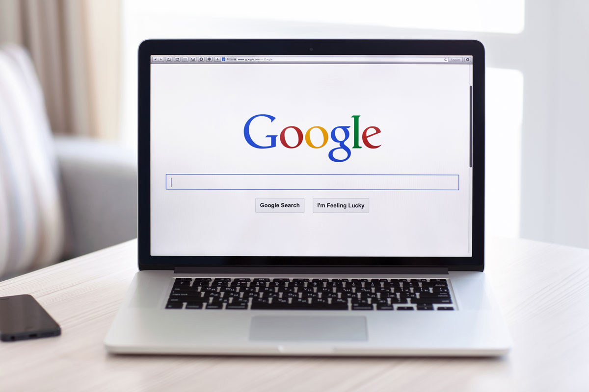 laptop with google search screen to illustrate how to run a successful adwords campaign