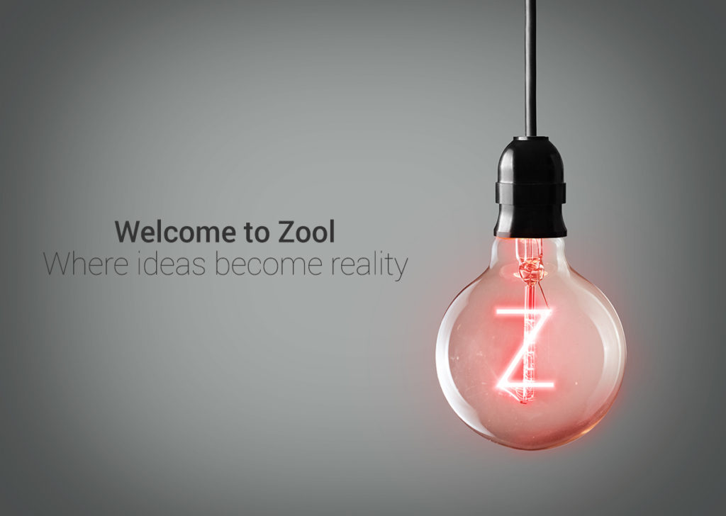 Zool old logo showing lightbulb with a Z in it