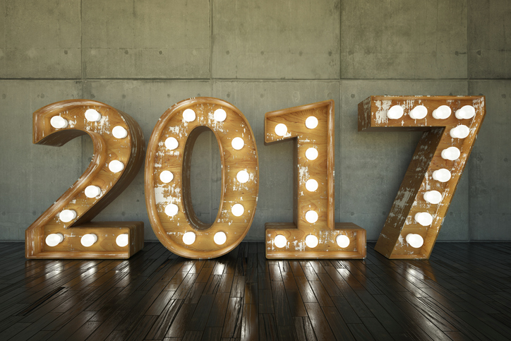 light up numbers spelling out 2017