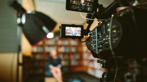 video camera capturing marketing video