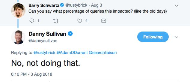 Danny sullivan refuses to elaborate on algorithm update