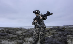soldier being treated for ptsd wearing virtual reality headset