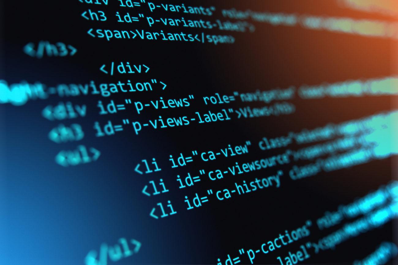 algorithm update in code on screen