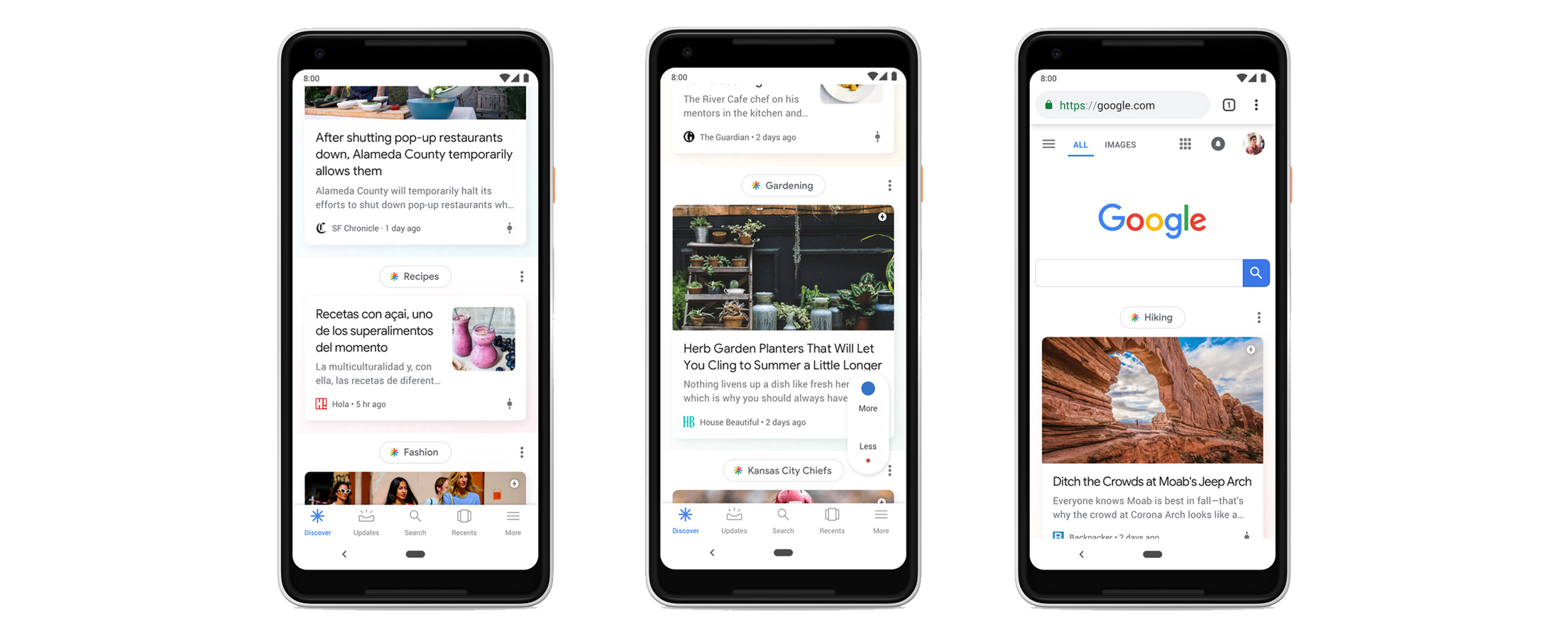 changes to the google discover feed