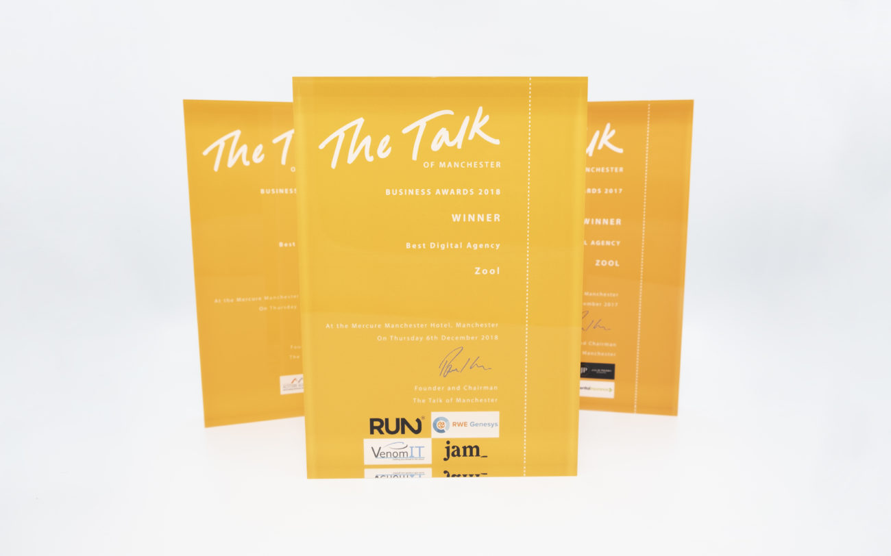 Our three Talk of Manchester awards