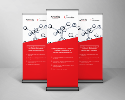 roller banners we produced for ApconiX