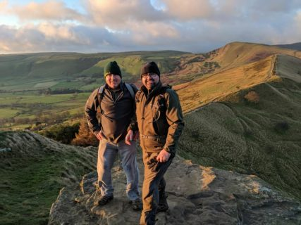 Ian and Stuart at the summit of Mam Tor