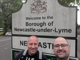 Ian and Stuart at Newcastle-under-Lyme