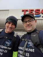 Ian and Stuart outside Tesco Lichfield