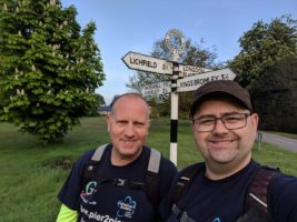 Ian and Stuart next to signpost showing Linchfield