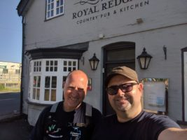 Stuart and Ian outside a pub in Nuneaton