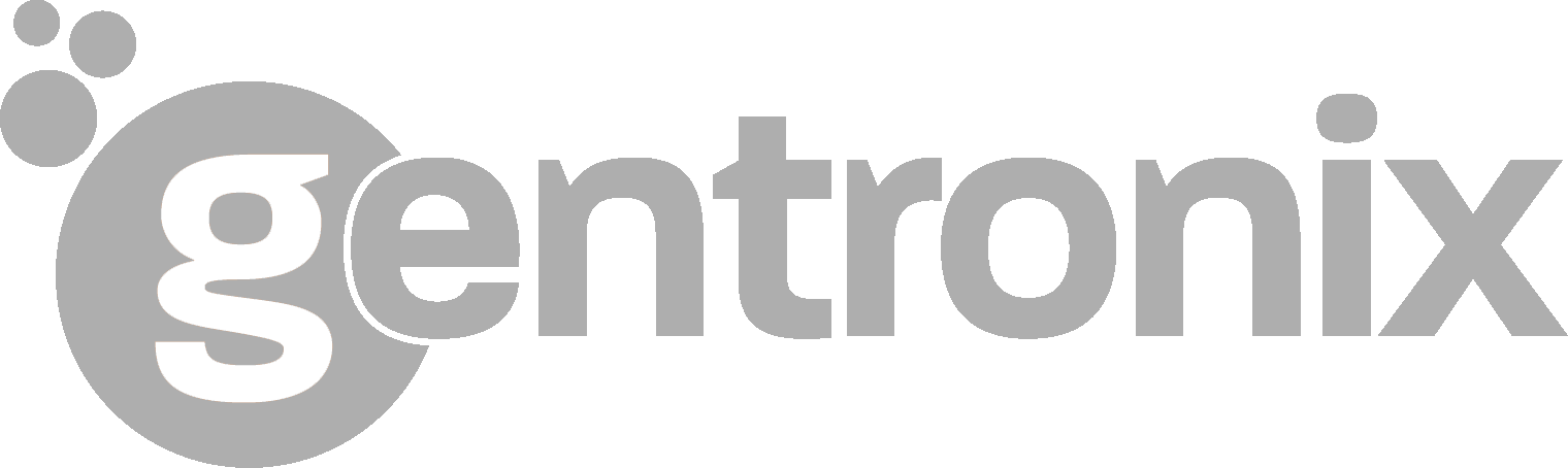 Gentronix logo white