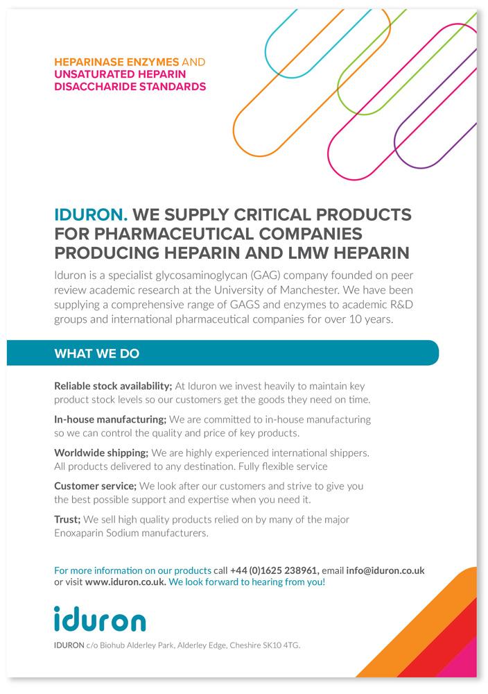 iduron leaflet designed by Zool
