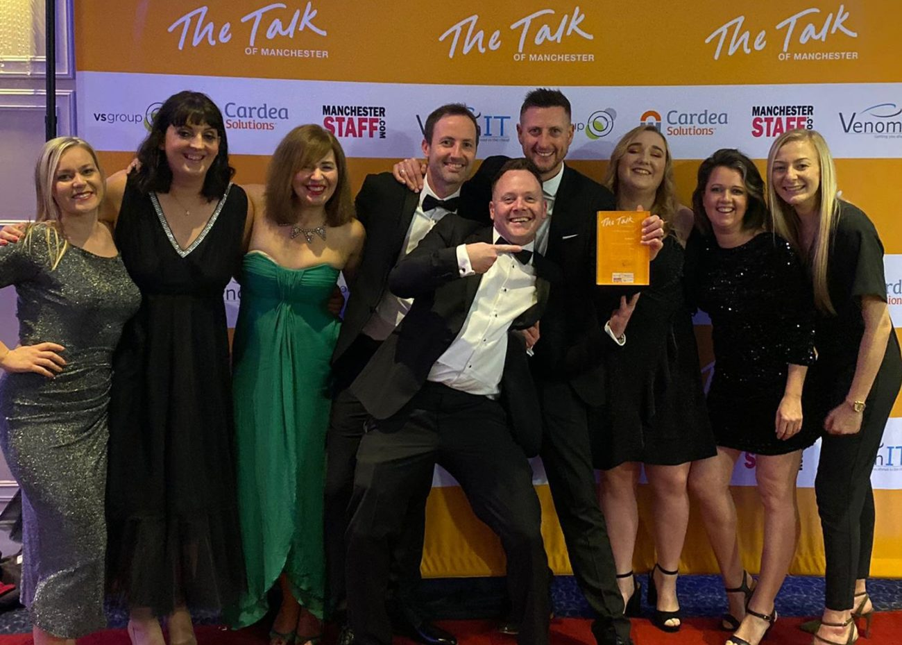 team zool at the talk of manchester business awards 2019