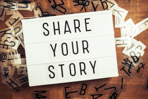 share your brand story with your customers