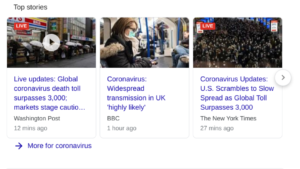 top stories for coronavirus