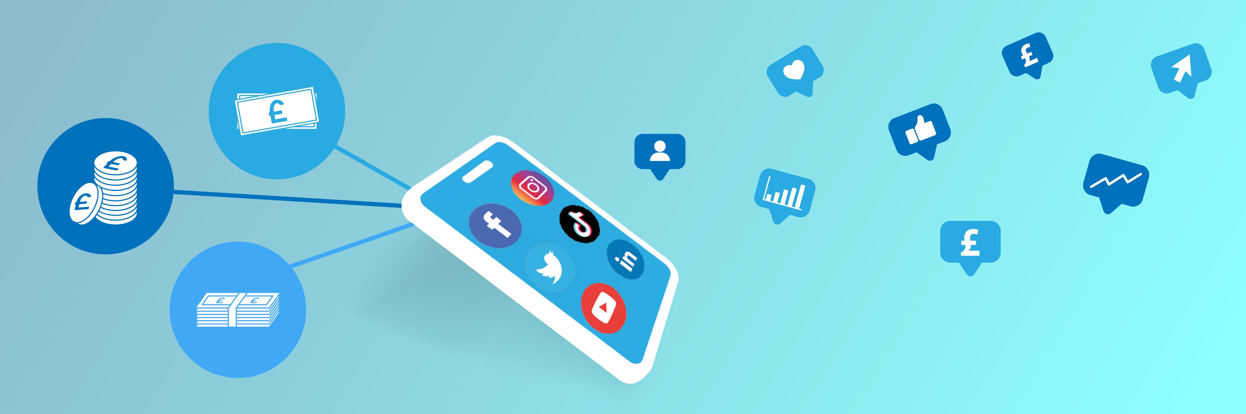 paid social media icons