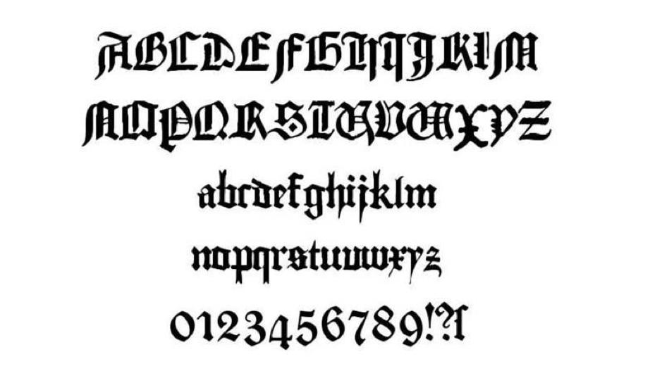 Textura font
